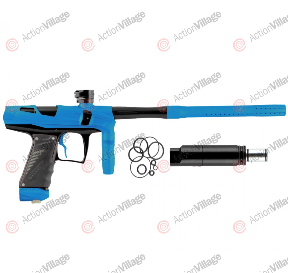 Bob Long Victory V-COM Paintball Gun - Dust Black/Teal