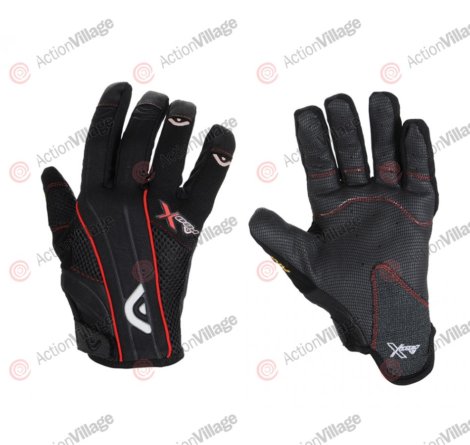 Angel Pro-X Paintball Gloves - Red
