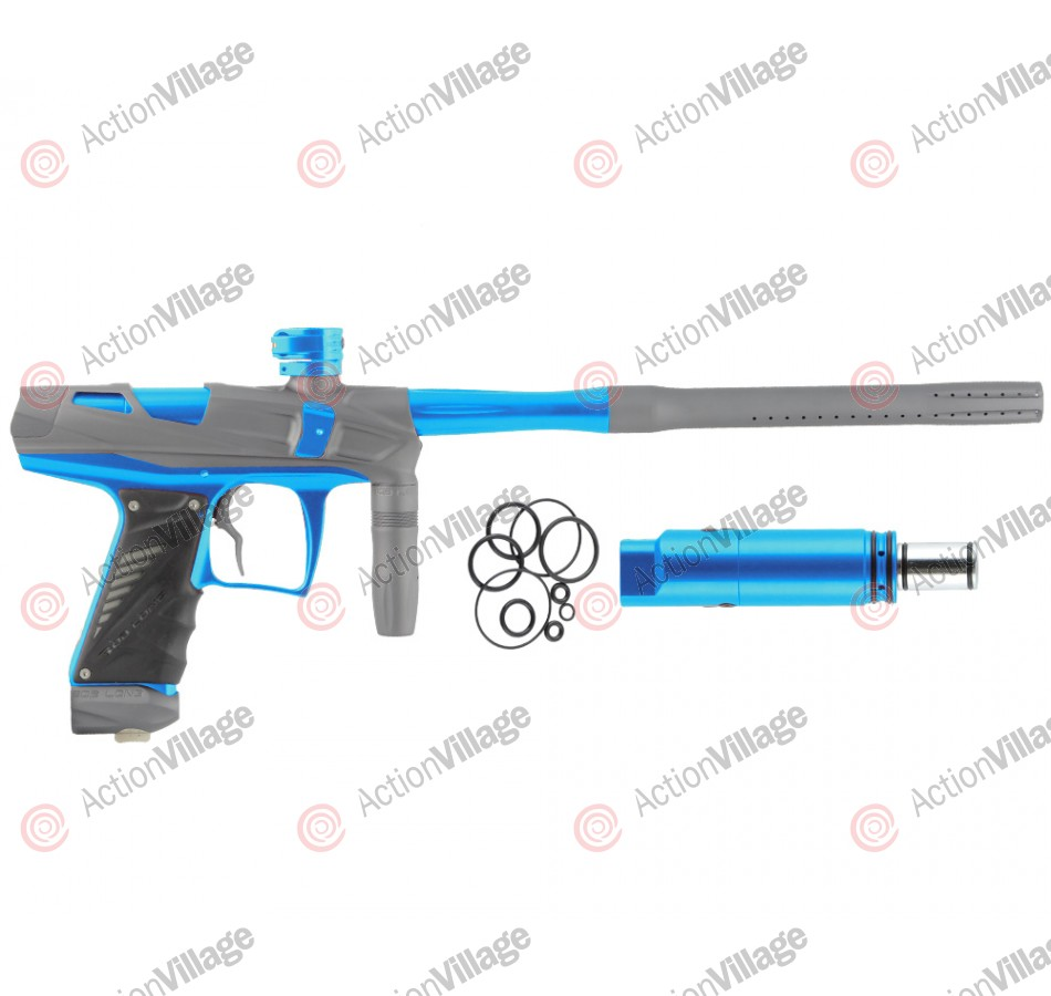 Bob Long Victory V-COM Paintball Gun - Dust Titanium/Teal