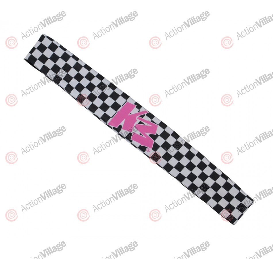 KM Paintball Headband - Checkered Black/White