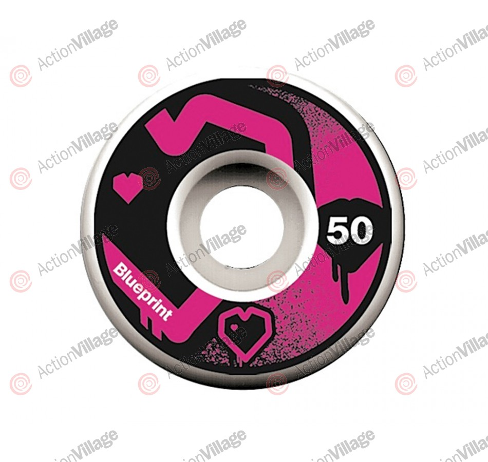 Blueprint Skateboards Spray Heart - 50mm - Skateboard Wheels
