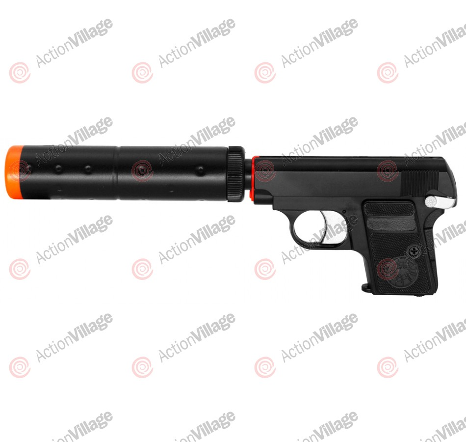 HG-107 Green Gas Airsoft Handgun - Black