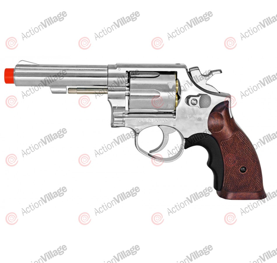 HG-131 Green Gas Airsoft Revolver - Chrome