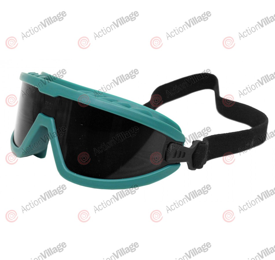 Airsoft Safety Goggles - Green/Black Mirrored