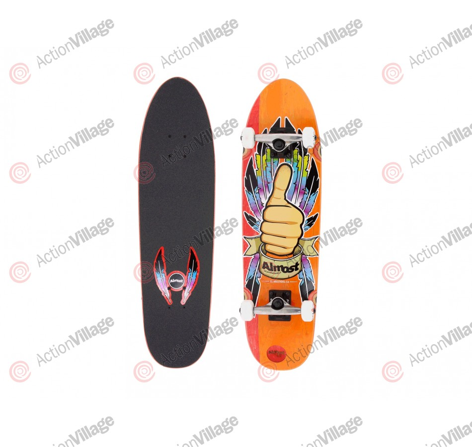 Almost Thumbs Up Cruiser - Red/Orange - 31 - Complete Skateboard