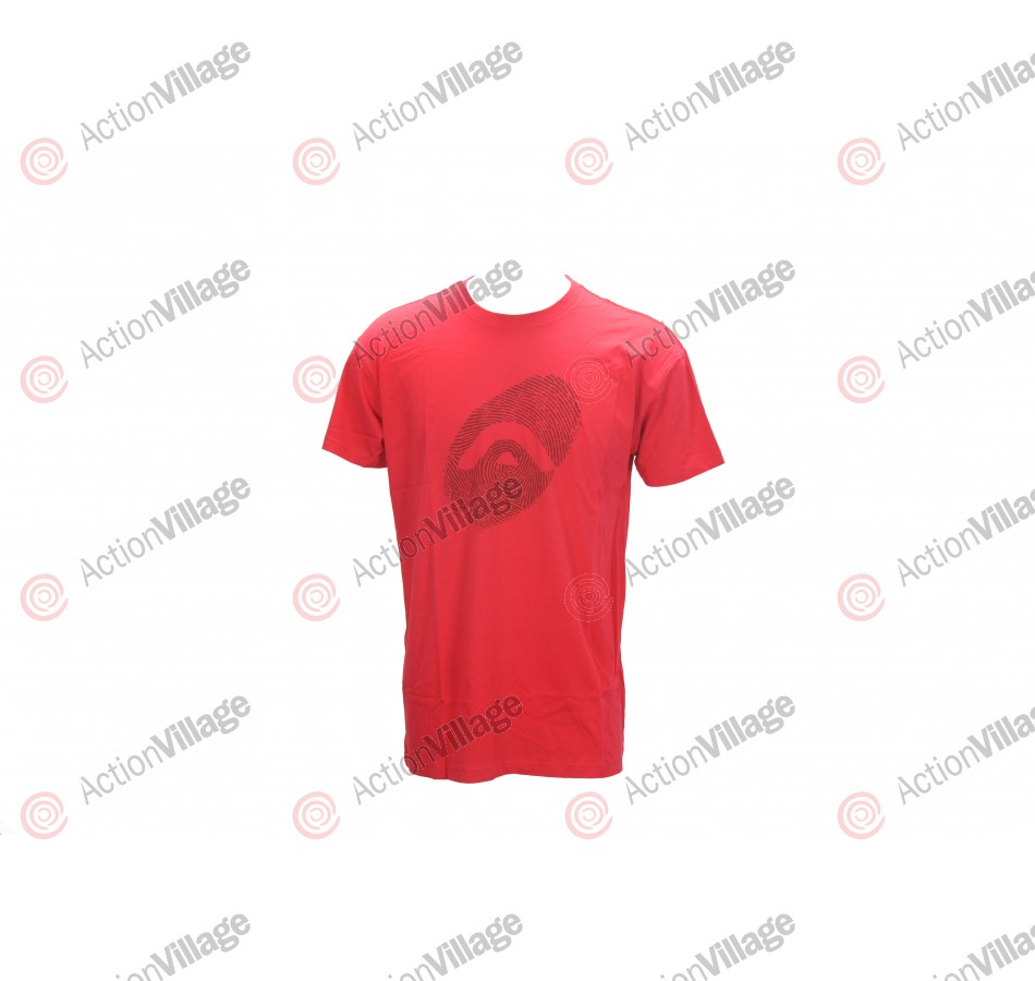 Angel Thumb Print Men's T-Shirt - Red