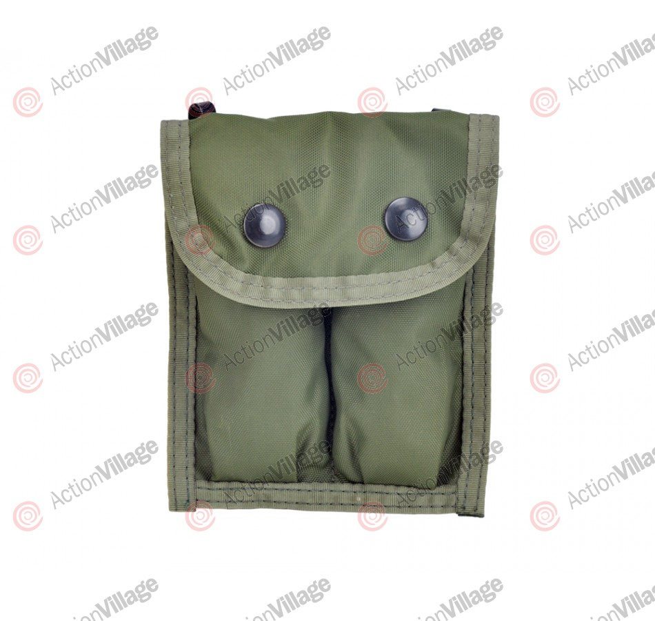 Atlanco .45 Double Magazine Pouch - Olive