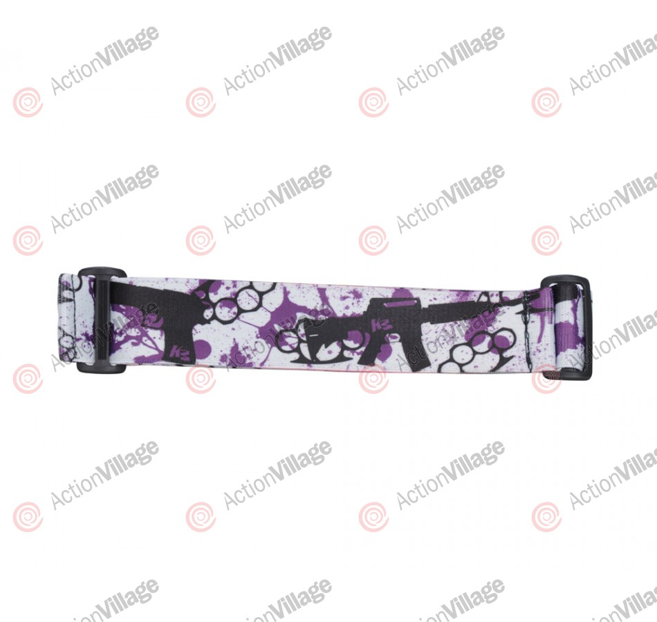 KM Paintball Goggle Strap - 09 Purple Knuckles