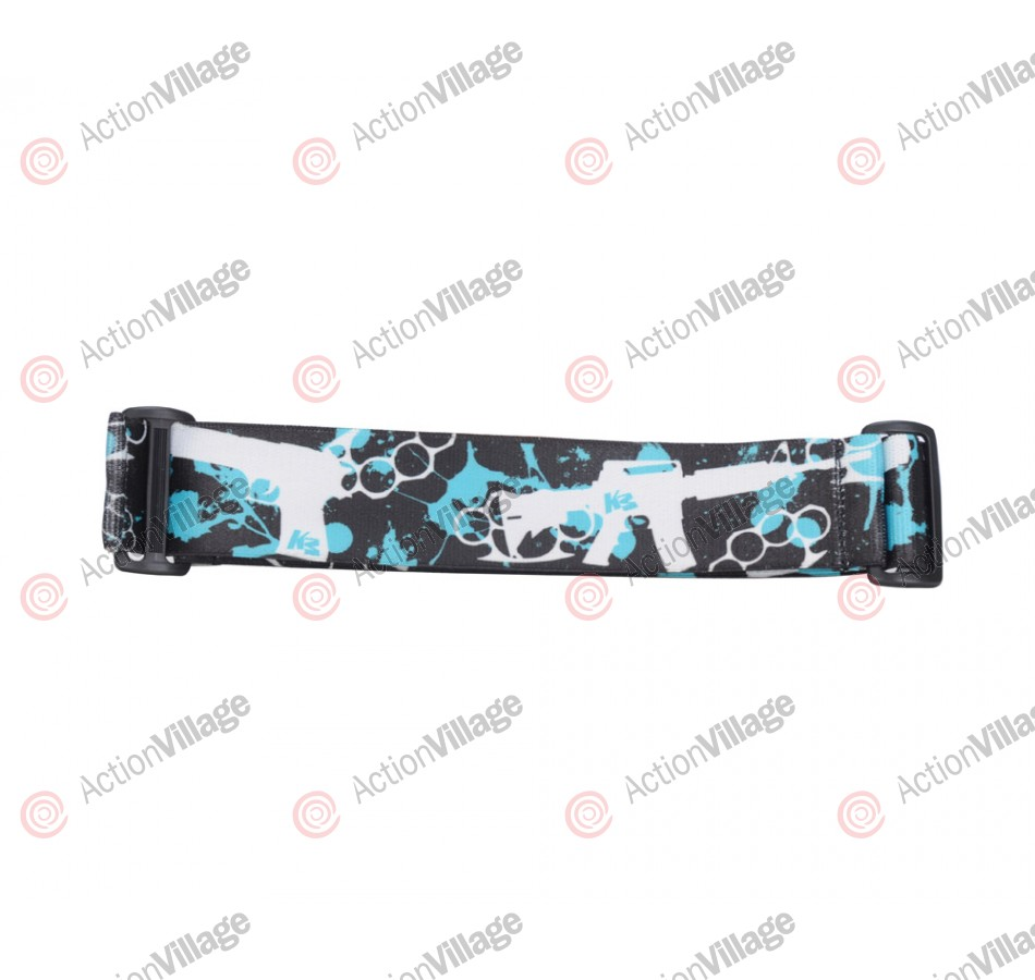 KM Paintball Goggle Strap - 09 Teal Knuckles