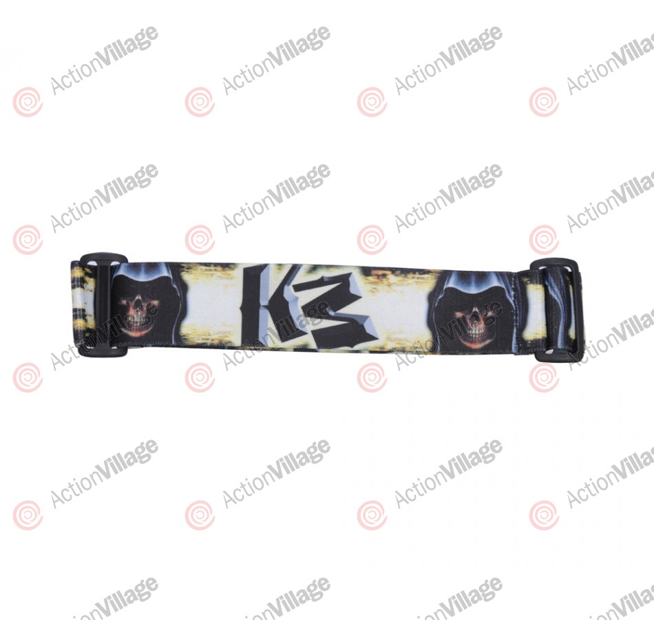 KM Paintball Goggle Strap - 09 Grim Reaper - Yellow