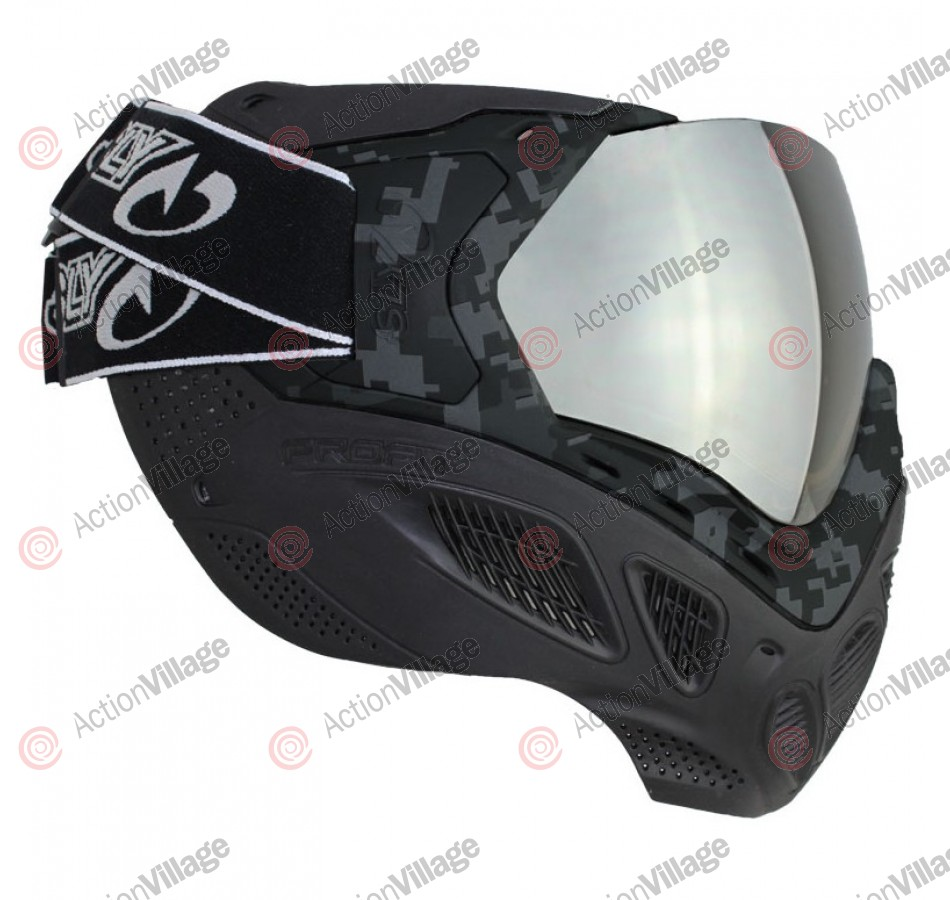 Sly Paintball Mask Profit Series - Black ACU Camo