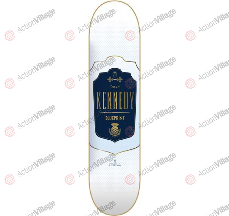 Blueprint Skateboards Emblematic Kennedy - White - 8.12 - Skateboard Deck