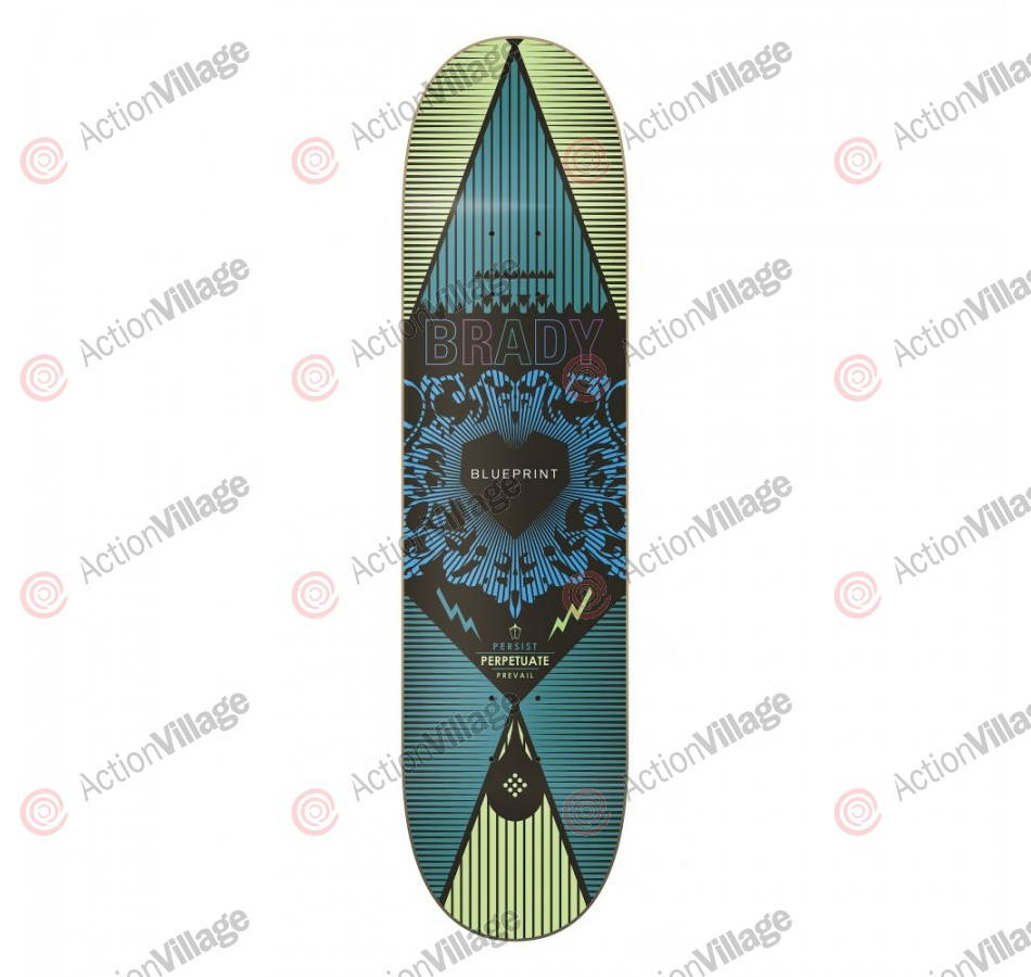Blueprint Skateboards Inheritance Brady - Blue - 8.0  - Skateboard Deck