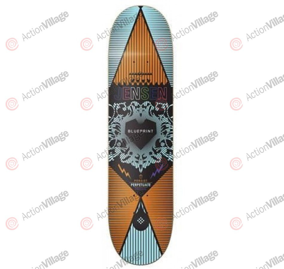 Blueprint Skateboards Inheritance Jensen - Blue - 8.125 - Skateboard Deck