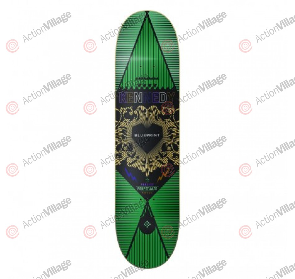 Blueprint Skateboards Inheritance Kennedy - Green - 8.25  - Skateboard Deck