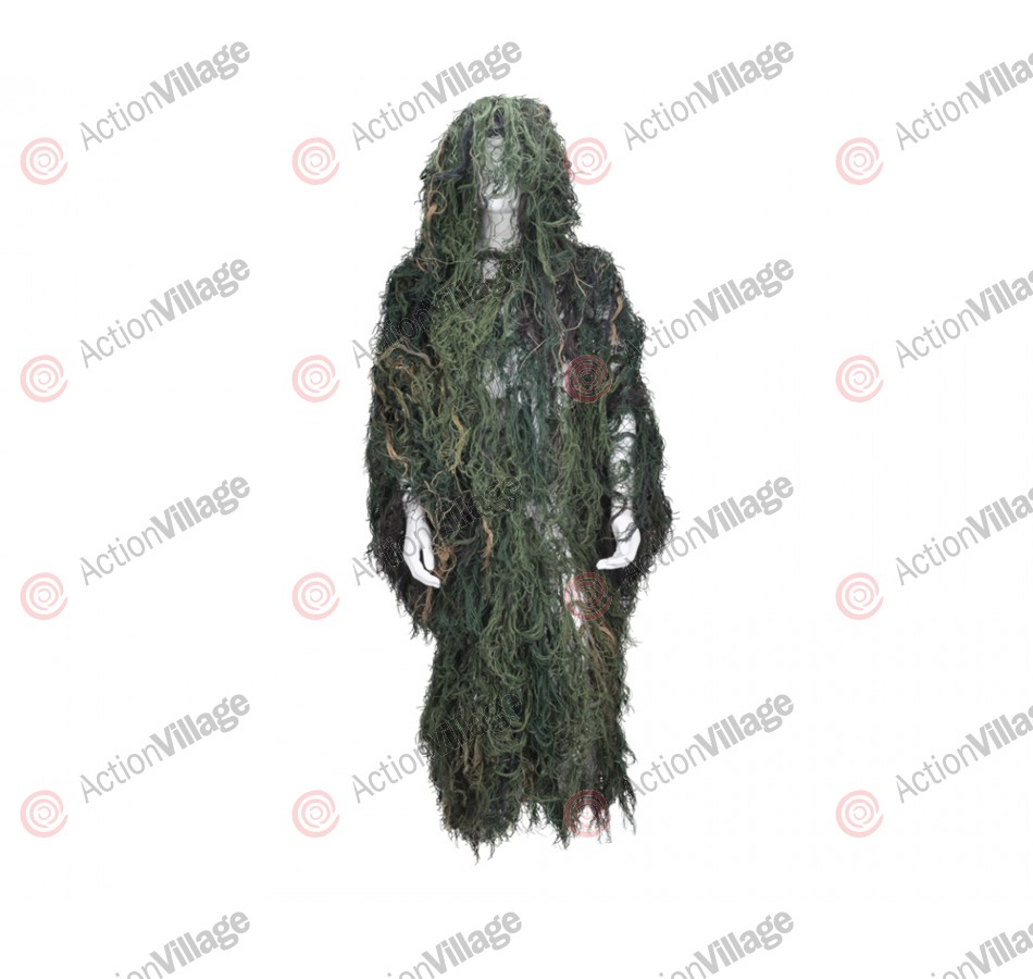 Bushrag Ghillie Flage Suit - Woodland (65111)