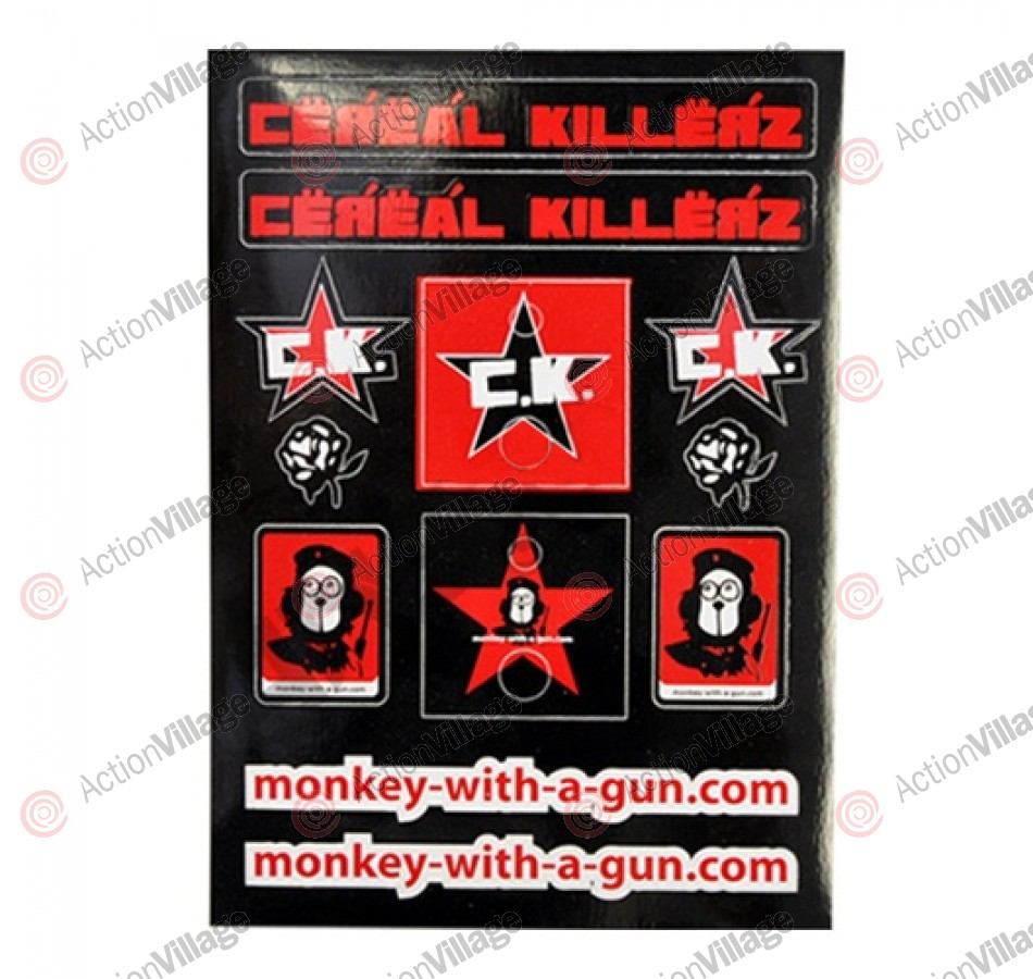 Monkey With a Gun 12 Sticker Sheet