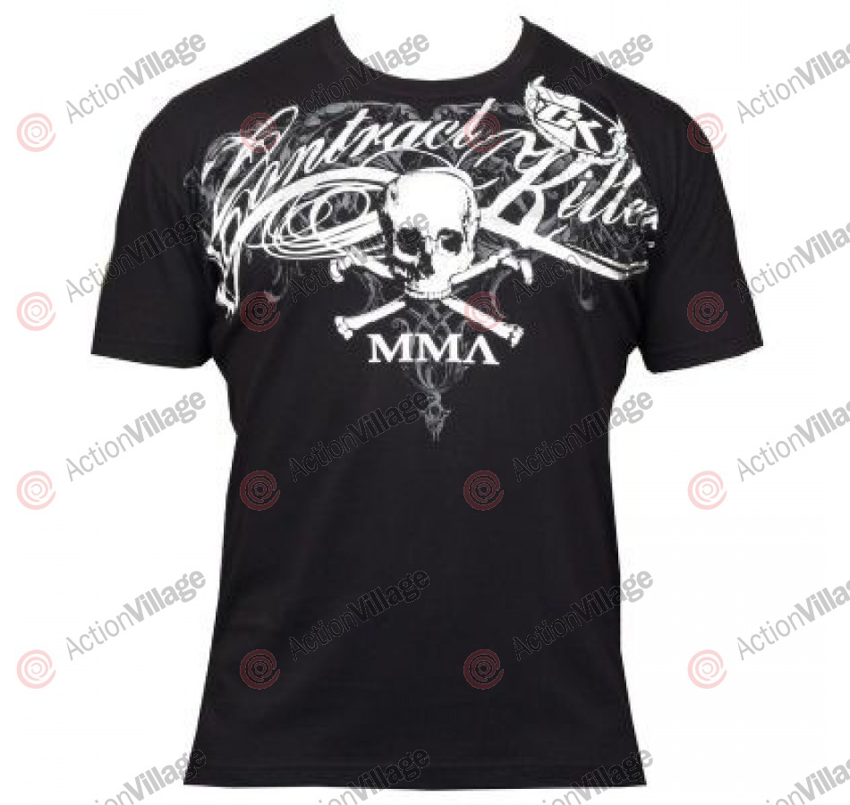 Contract Killer Tattwo T-Shirt - Black w/ Silver Foil