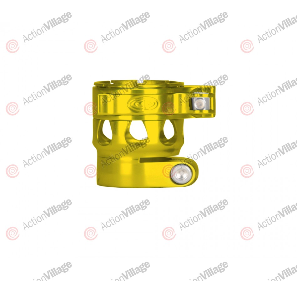 Custom Products CP Ego 07/08/09/10/11 Clamping Feed Neck - Yellow