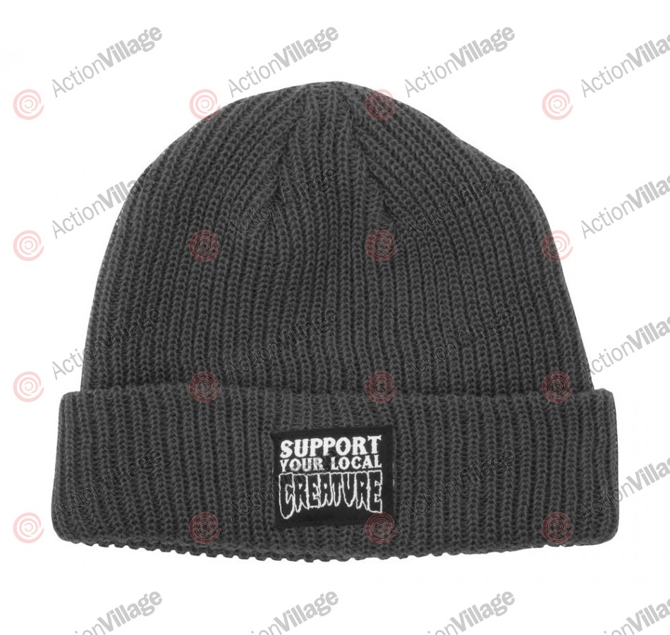 Creature Support Long Shoreman - One Size Fits All - Charcoal - Men's Beanie