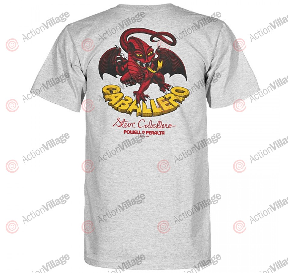 Powell Peralta Steve Caballero Original Dragon T-Shirt - Gray - T-Shirt