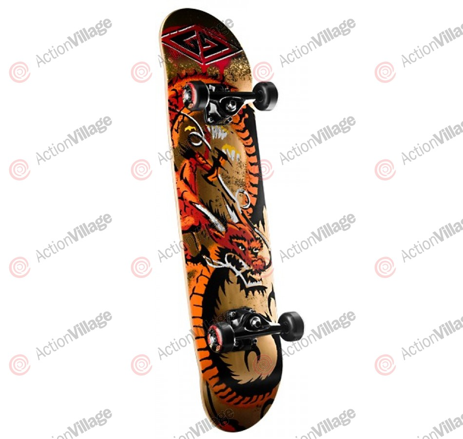 Powell Golden Dragon Loop Dragon - 7.75 - Complete Skateboard