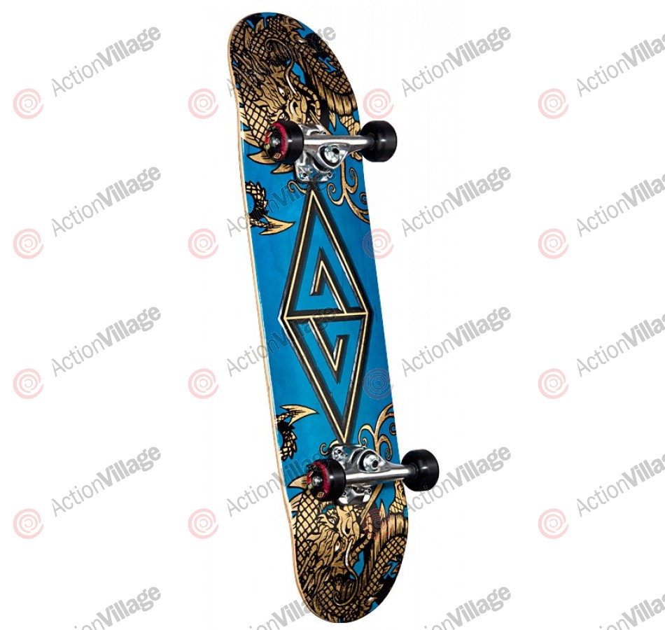 Powell Golden Dragon Two Dragons - 7.88 - Complete Skateboard