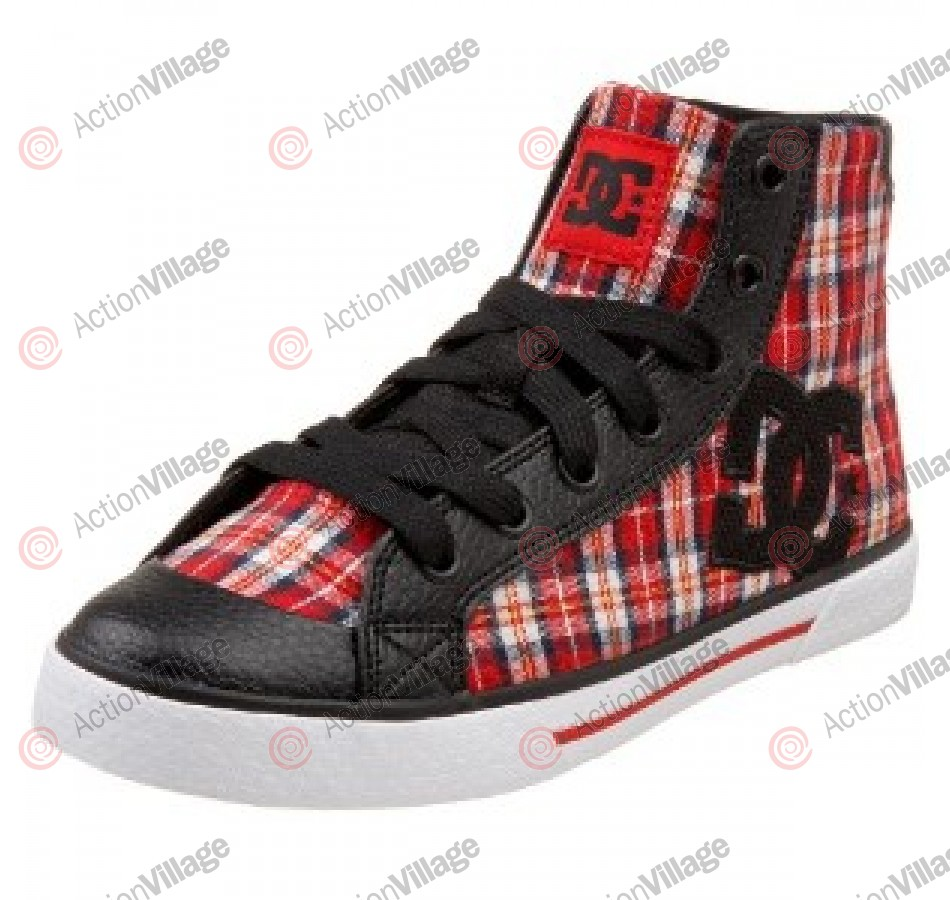 DC Chelsea Mid Athletic - Women's Shoes Red/Black - Size 8.5
