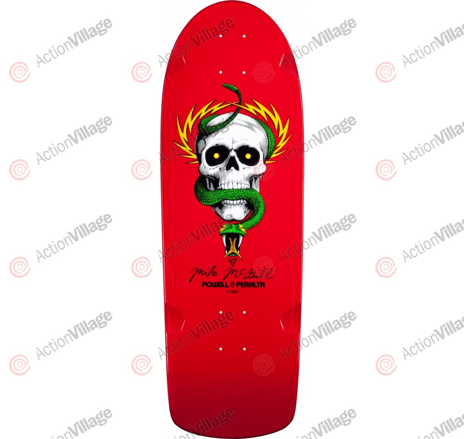 Powell Peralta Bones Brigade Reissue - Mike McGill - Red - 10in x 30.125in - Skateboard Deck