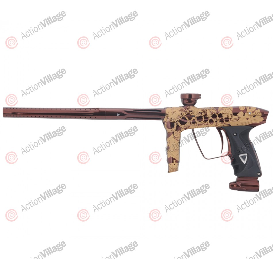 DLX Luxe 2.0 Paintball Gun - Skull Candy - Brown/Gold Tattoo Laser