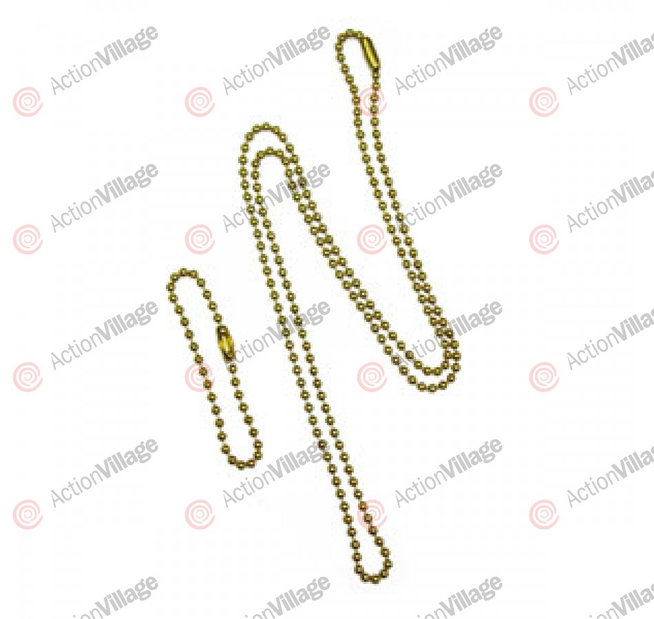 Dog Tag Chain Set - Brass