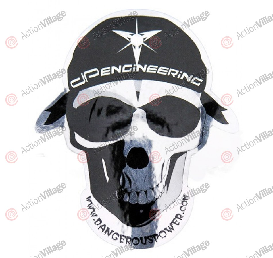 Dangerous Power Skull Sticker