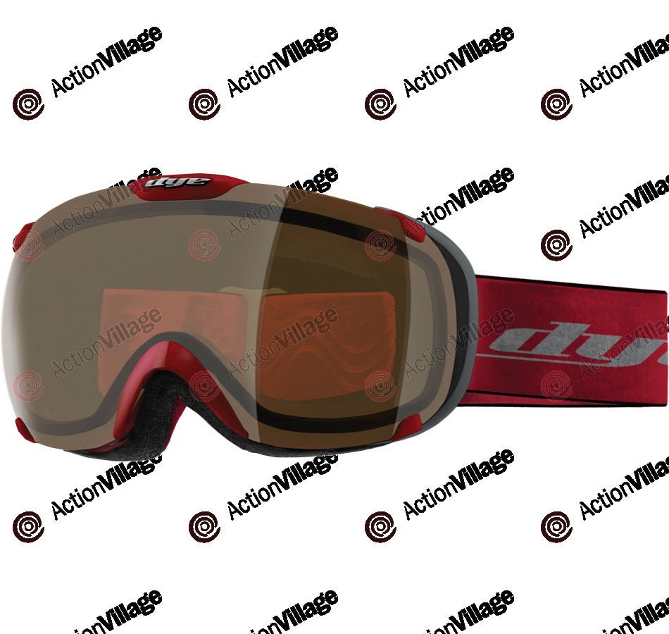 Dye T1 Red Snowboard Goggles - HD