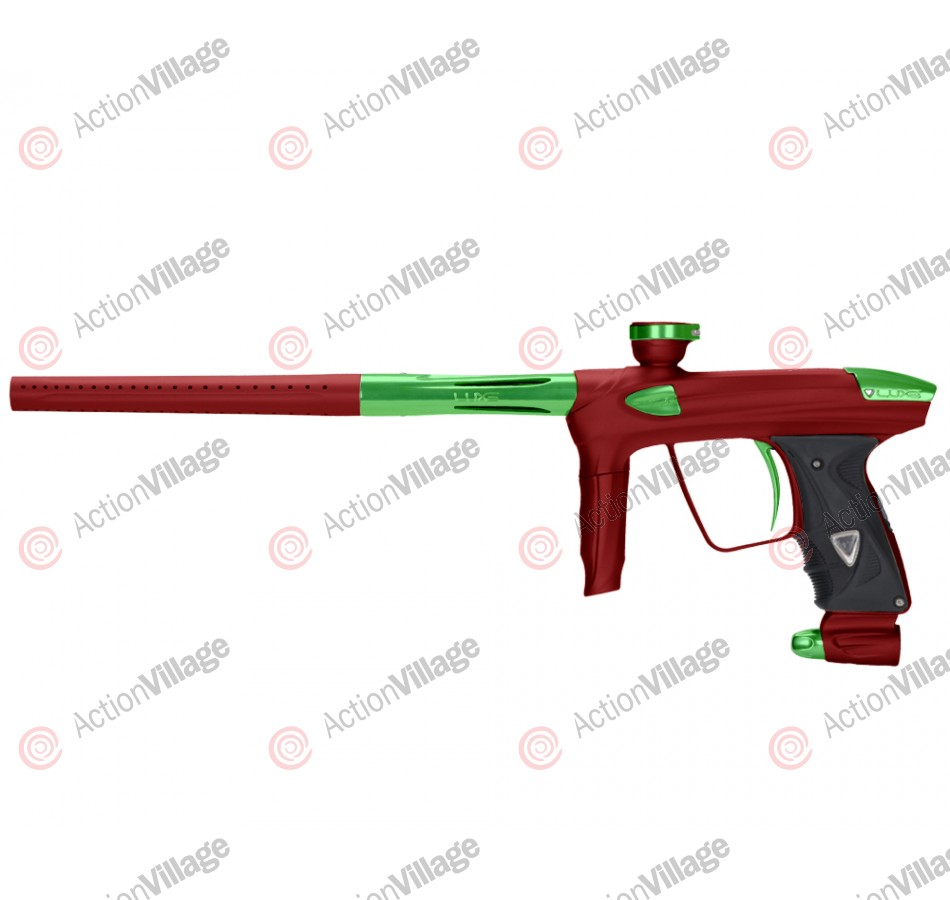 DLX Luxe 2.0 Paintball Gun - Dust Red/Slime Green