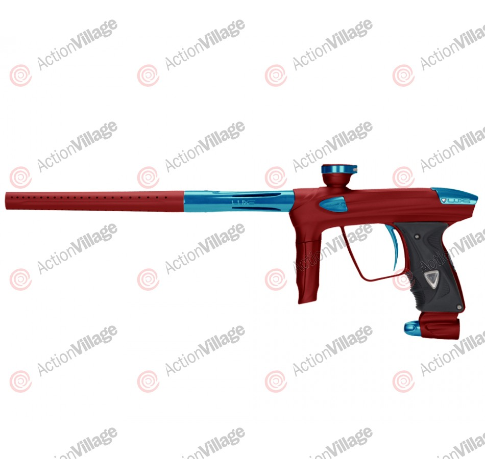 DLX Luxe 2.0 Paintball Gun - Dust Red/Teal