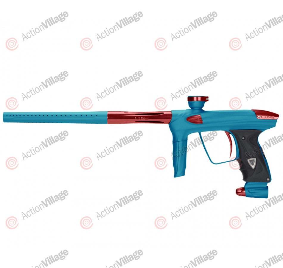 DLX Luxe 2.0 Paintball Gun - Dust Teal/Red