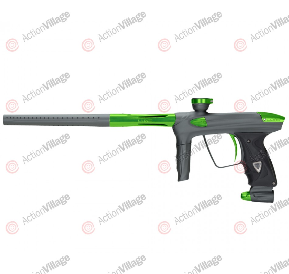 DLX Luxe 2.0 Paintball Gun - Dust Titanium/Slime Green