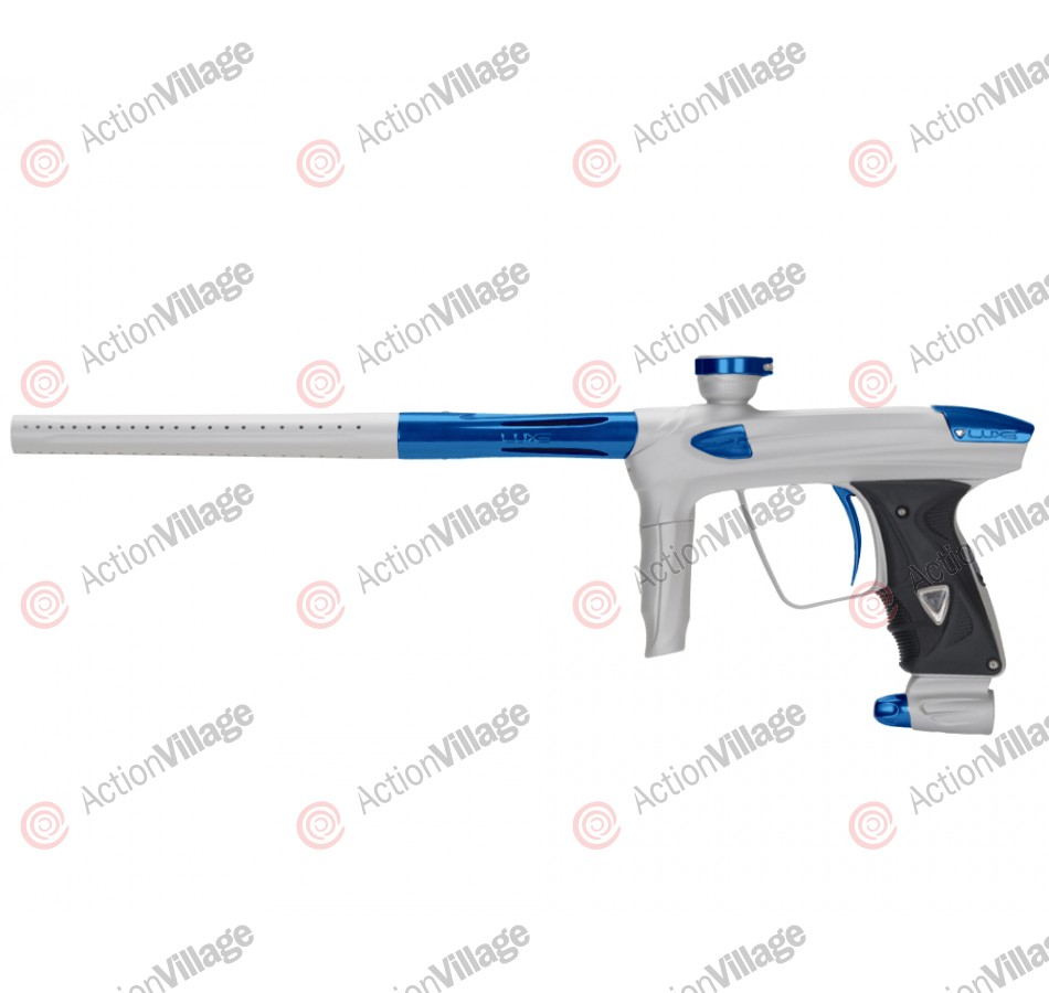 DLX Luxe 2.0 Paintball Gun - Dust White/Blue