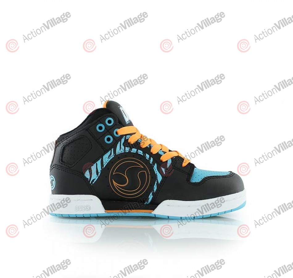 DVS Aces High - Kids - Black/Blue Animal - Skateboard Shoes