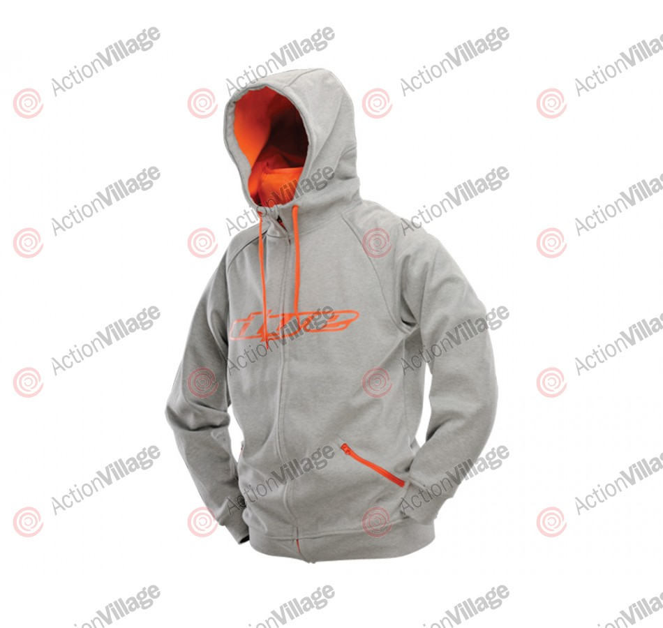 Dye 2013 Snow Hooded Sweatshirt - Grey/Orange