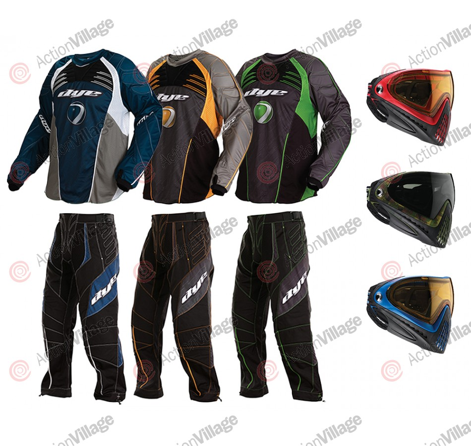 2011 Dye C11 Paintball Pants & Jersey Combo w/ I4 Mask - Hypnotic TP