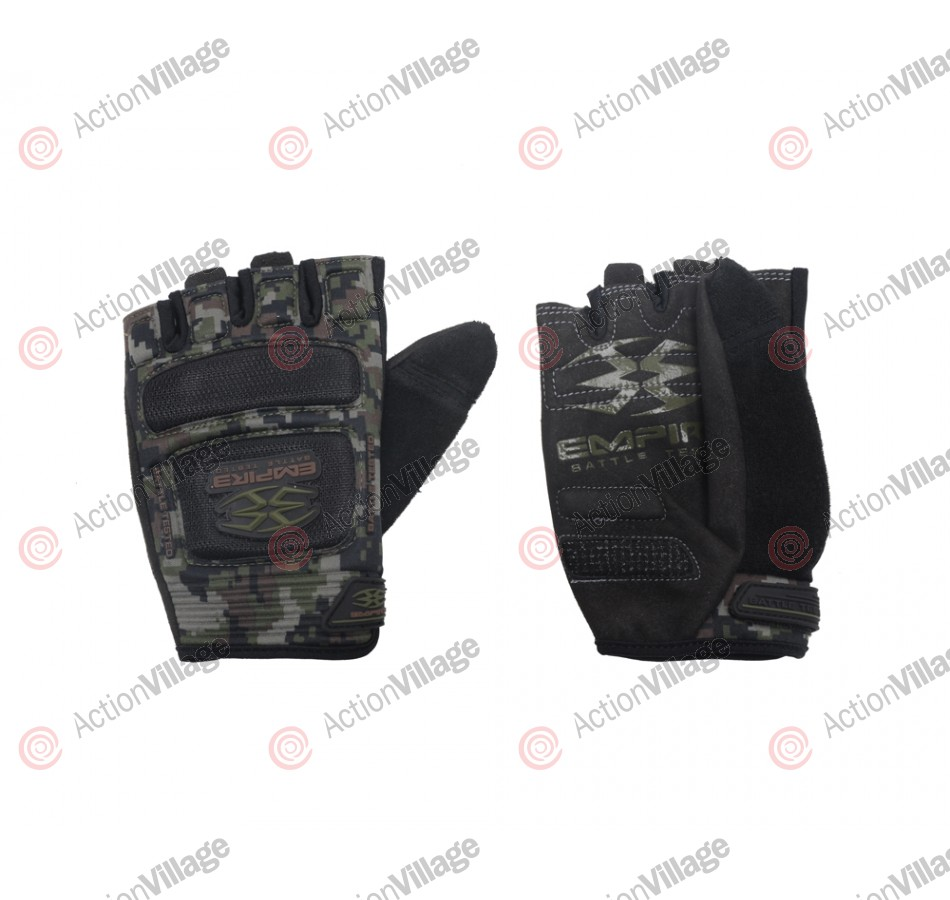 Empire Battle Tested Combat Paintball Gloves - Woodland Digi