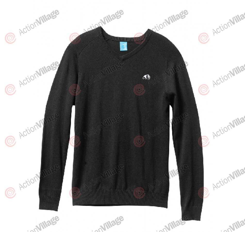 Enjoi Panda Patch V-Neck Sweater - Black - Mens Sweatshirt - Medium