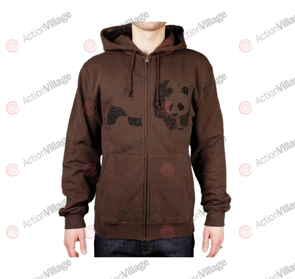 Enjoi Chester Zip Hood - Cocoa - Sweatshirt