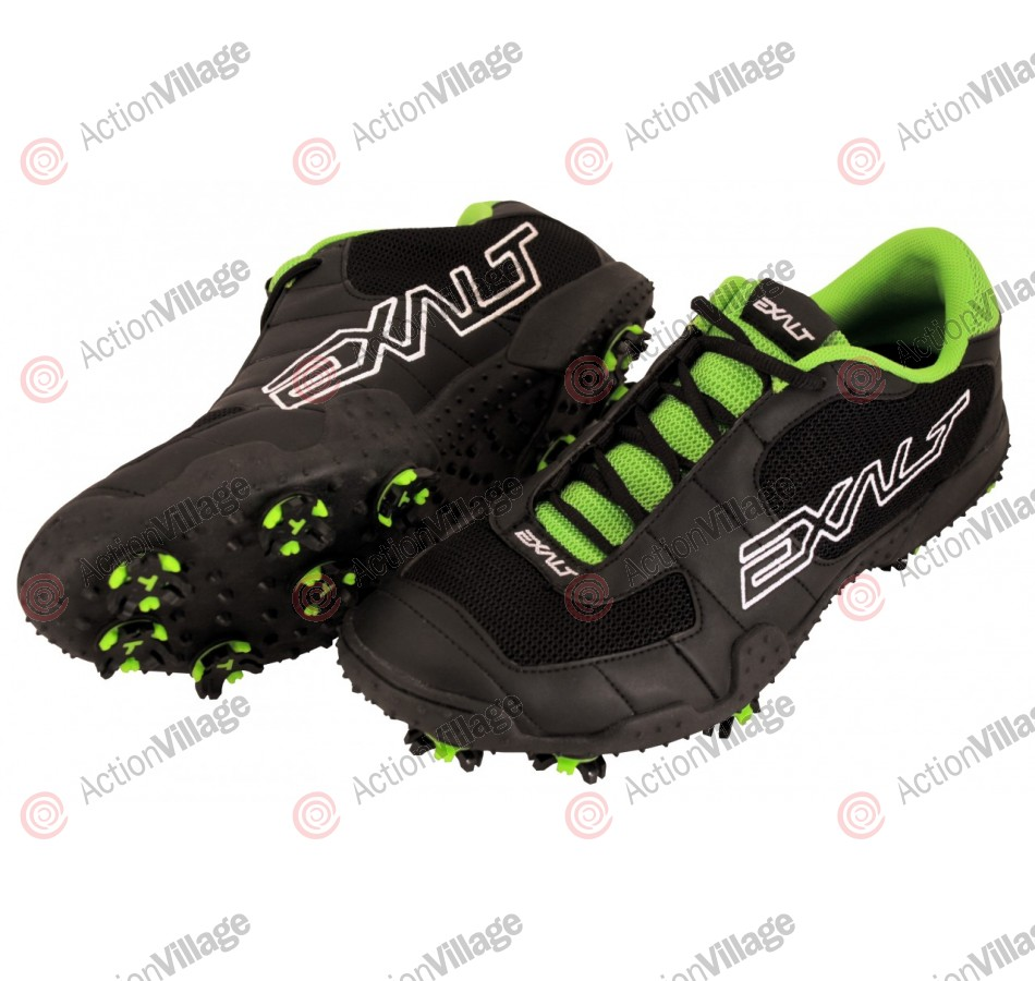 Exalt TRX Paintball Cleats - Black/Green