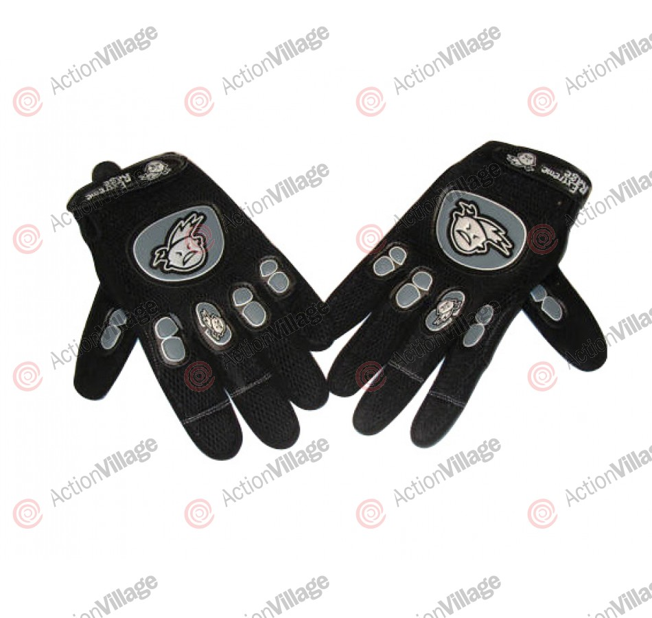 Extreme Rage Full Finger Paintball Gloves - Black