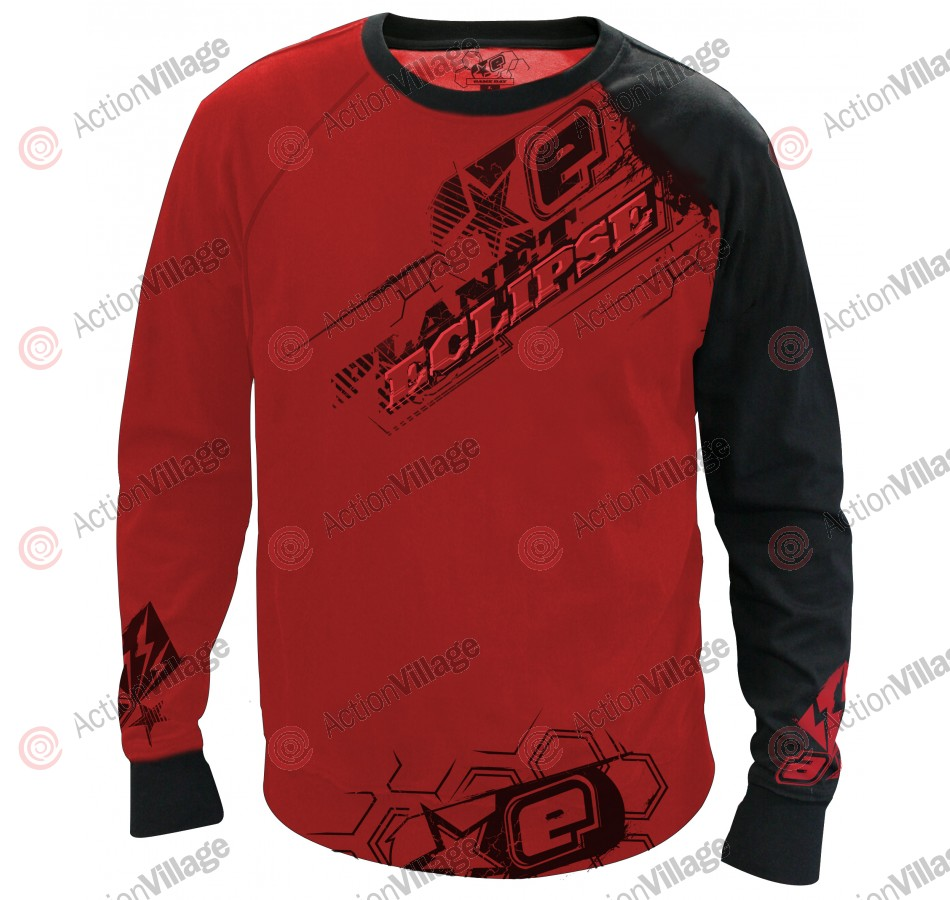 Planet Eclipse Men's 2011 Game Day Long Sleeve Practice Jersey - Red