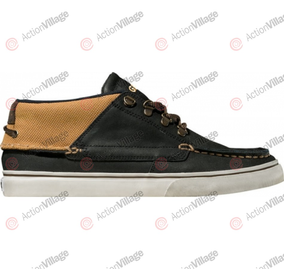 Globe The Bender - Black Oiled Suide/Caramello - Skateboard Shoes