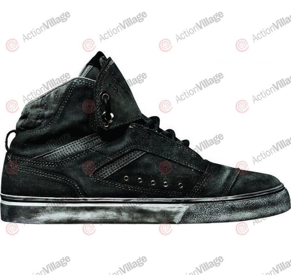 Globe The Heathen Hi - Black R2R Wash - Skateboard Shoes