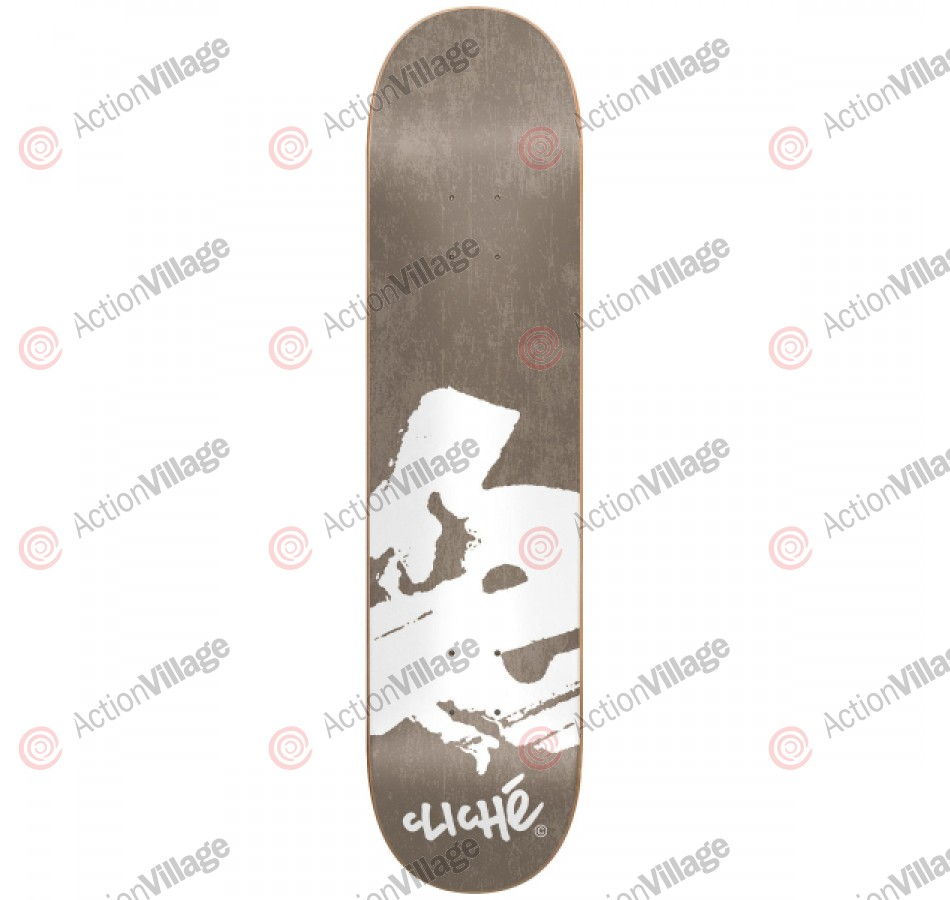 Cliche Europe R7 - Grey/White - 7.6 - Skateboard Deck